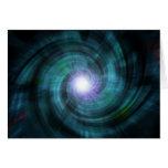 Giro cósmico azul tarjeton
