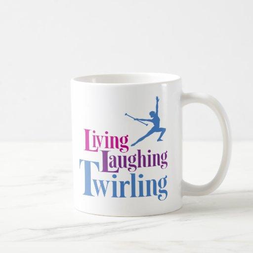 Giro de risa de vida taza de café