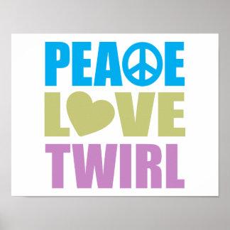Giro del amor de la paz póster