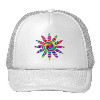Giro del arco iris de la flor gorras de camionero