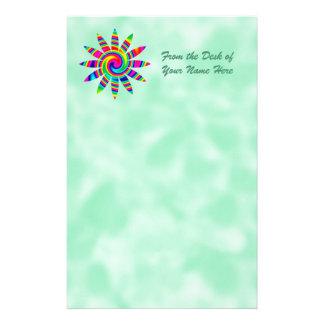 Giro del arco iris de la flor papeleria de diseño
