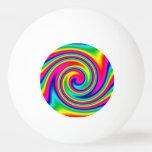 Giro del arco iris pelota de ping pong