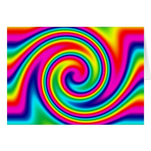 Giro del arco iris tarjeta de felicitación