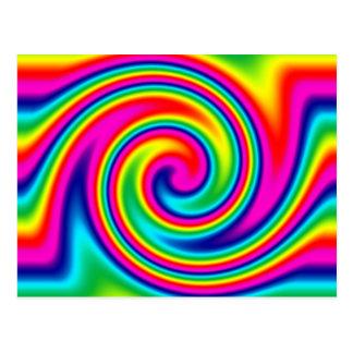 Giro del arco iris tarjetas postales