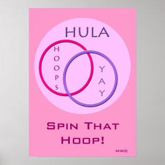 Giro del aro de Hula Póster