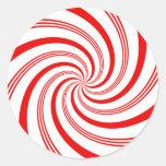 Giro del bastón de caramelo etiquetas redondas