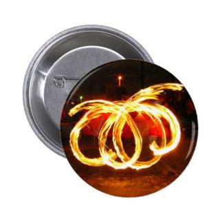 Giro del fuego - personal del dragón pin redondo 5 cm