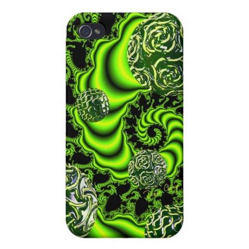 Giro del irlandés, danza abstracta del verde esmer iPhone 4 carcasas