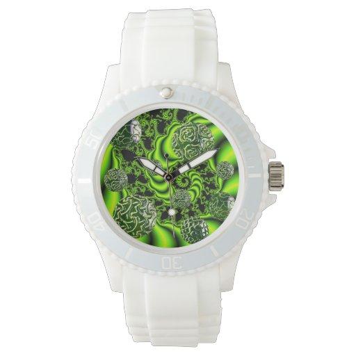 Giro del irlandés, danza abstracta del verde relojes de pulsera