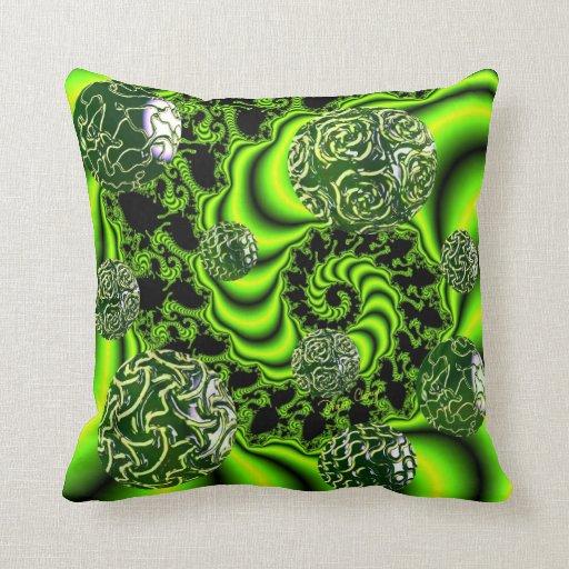 Giro del irlandés - danza esmeralda abstracta almohada