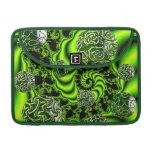 Giro del irlandés - danza esmeralda abstracta fundas para macbooks