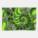 Giro del irlandés - danza esmeralda abstracta toallas de cocina