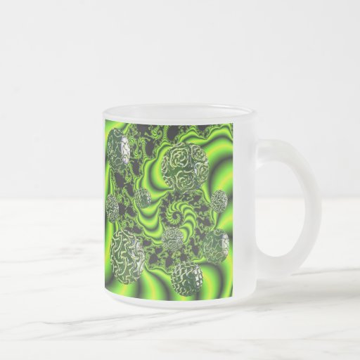 Giro del irlandés - danza esmeralda abstracta tazas