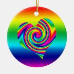 Giro en forma de corazón del arco iris ornato