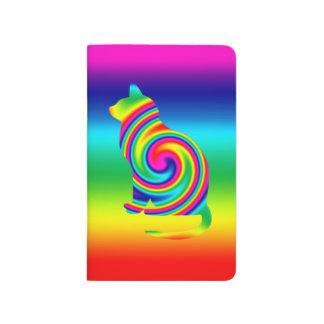 Giro formado gato del arco iris cuaderno