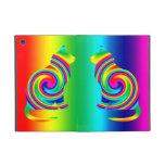 Giro formado gato del arco iris iPad mini cobertura