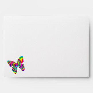 Giro formado mariposa del arco iris