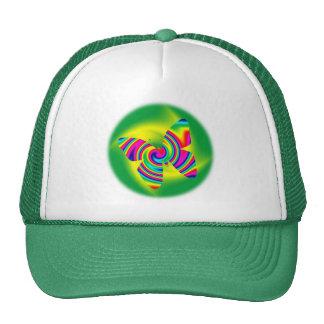 Giro formado mariposa del arco iris gorro