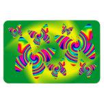 Giro formado mariposa del arco iris imanes de vinilo
