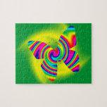 Giro formado mariposa del arco iris puzzle