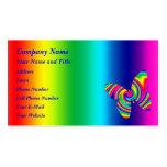 Giro formado mariposa del arco iris tarjetas de visita