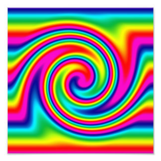 Giro multicolor del arco iris impresión fotográfica