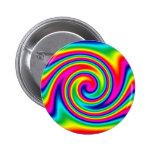 Giro multicolor del arco iris pin