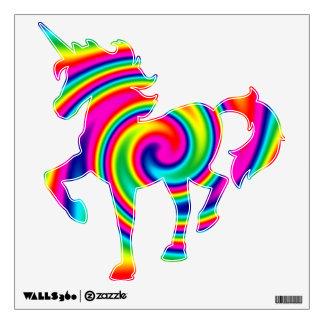 Giro multicolor del arco iris vinilo decorativo
