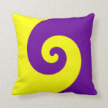 Giro púrpura y amarillo almohadas