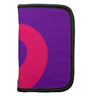 Giro púrpura y rosado planificador