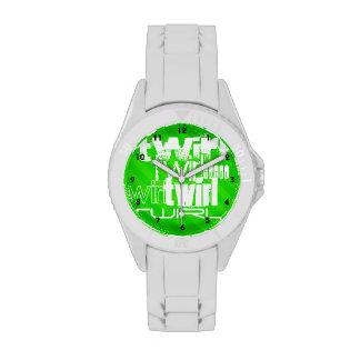 Giro; Rayas verdes de neón Relojes De Mano