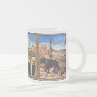 Girolamo da Cremona - The Triumphs of Petrarch Frosted Glass Coffee Mug