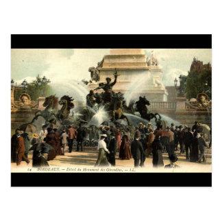 Girondins Statue Bordeaux France Vintage 1915 Postcard