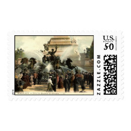 Girondins Statue Bordeaux France Vintage Postage