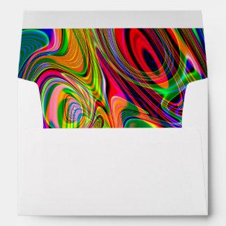Giros abstractos fluorescentes psicodélicos sobres