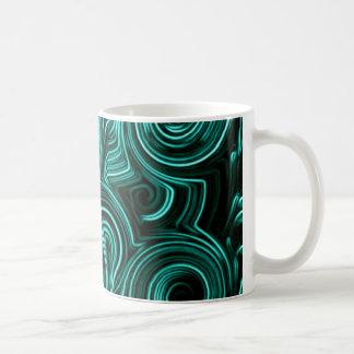 Giros de la aguamarina de la diversión tazas de café