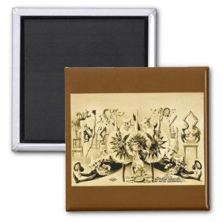 Giros grotescos por Eccentriques dotado 1900 Iman De Frigorífico