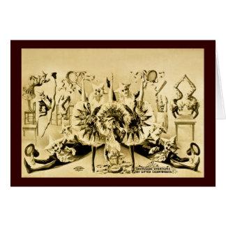 Giros grotescos por Eccentriques dotado 1900 Tarjeta De Felicitación