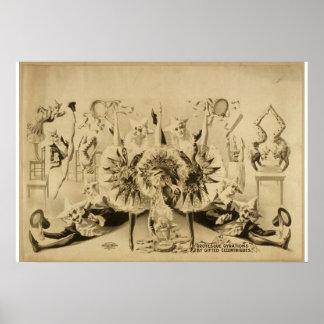 Giros grotescos por Eccentriques dotado T retro Impresiones
