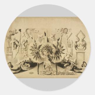 Giros grotescos por Eccentriques dotado T retro Etiqueta Redonda