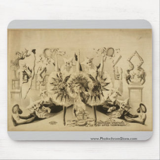 Giros grotescos por Eccentriques dotado T retro Alfombrilla De Ratones