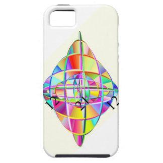 giroscopio de Digitaces del arco iris del ambiente Funda Para iPhone 5 Tough