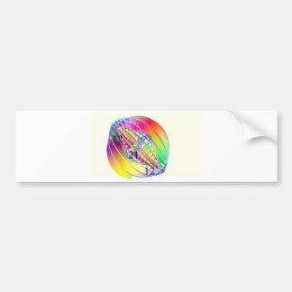 Giroscopio del mundo del arco iris pegatina para auto