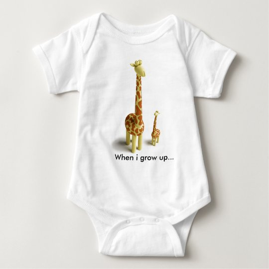 Girrafe And baby Giraffe Baby Bodysuit