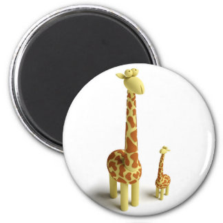 Girrafe And baby Giraffe Magnet