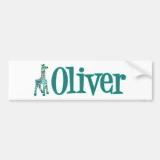 Girraffe for Oliver Bumper Sticker