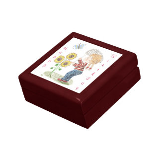 Girrl catching a butterfly giftbox jewelry boxes