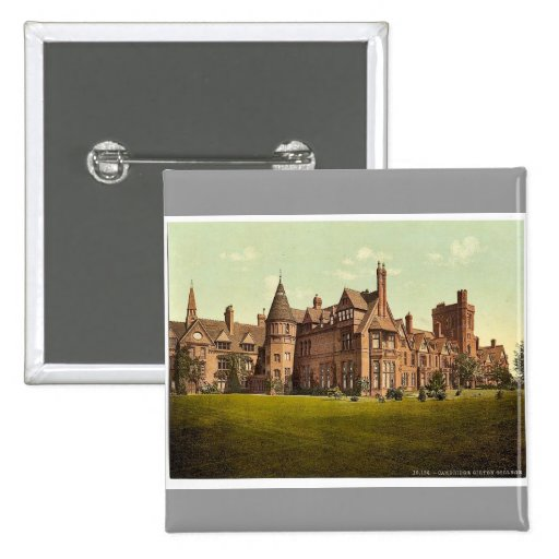 Girton College, Cambridge, England vintage Photoch Pinback Buttons