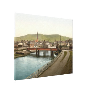 Girvan, Ayrshire, Escocia envolvió la impresión de Lienzo Envuelto Para Galerías