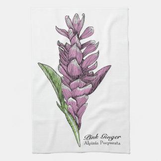 Gisele el jengibre rosado toalla de cocina